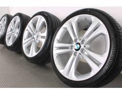 BMW Velgen met Zomerbanden 3 Serie F30 F31 4 Serie F32 F33 F36 19 Inch Styling 401 Doppelspeiche