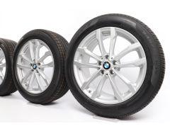 BMW Velgen met Zomerbanden X3 G01 X4 G02 19 Inch Styling 691 V-spaak