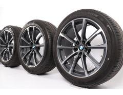 BMW Sommerkompletträder 6er G32 7er G11 G12 19 Zoll Styling 685 V-Speiche