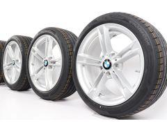 BMW Velgen met Zomerbanden 3 Serie F30 F31 4 Serie F32 F33 F36 18 Inch Styling 707 Dubbelspaak