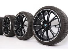 BMW Summer Wheels 5 Series G30 G31 20 Inch Styling 669 M Doppelspeiche