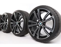 BMW Velgen met Zomerbanden 8 Serie G14 G15 G16 20 Inch Styling 730 V-Speiche