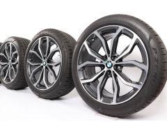 BMW Velgen met Zomerbanden X3 G01 X4 G02 20 Inch Styling 695 Y-Speiche