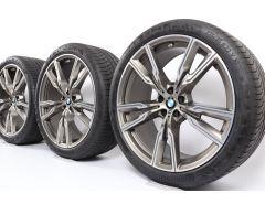 BMW Sommerkompletträder X5 G05 X6 G06 22 Zoll Styling 747 M Doppelspeiche