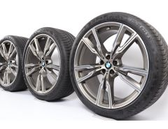 BMW Velgen met Zomerbanden X5 G05 X6 G06 22 Inch Styling 747 M Doppelspeiche