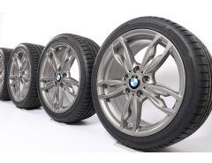 BMW Sommerkompletträder 1er F20 F21 2er F22 F23 18 Zoll Styling 436 M Doppelspeiche