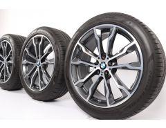 BMW Velgen met Zomerbanden X3 G01 X4 G02 20 Inch Styling 699 M Doppelspeiche