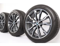BMW Sommerkompletträder X3 G01 X4 G02 20 Zoll Styling 699 M Doppelspeiche