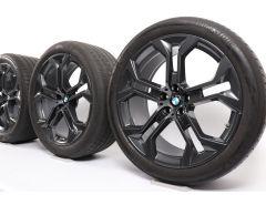 BMW Velgen met Zomerbanden X5 G05 X6 G06 21 Inch Styling 744 Y-Speiche