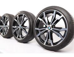 BMW Sommerkompletträder X1 F48 X2 F39 20 Zoll Styling 716 M Y-Speiche