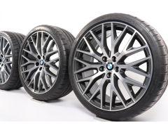 BMW Sommerkompletträder 5er G30 G31 20 Zoll Styling 636 Kreuzspeiche