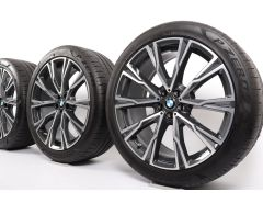 BMW Sommerkompletträder X7 G07 22 Zoll Styling 758 Y-Speiche