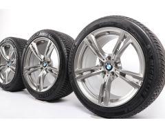 BMW Velgen met Winterbanden M5 F90 M8 F91 F92 19 Inch Styling 705 M Doppelspeiche