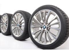 BMW Velgen met Zomerbanden 5 Serie G30 G31 19 Inch Styling 663 W-Speiche