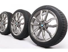 BMW Velgen met Winterbanden X1 F48 X2 F39 18 Inch Styling 711 Y-Speiche