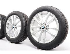 BMW Winterkompletträder X3 G01 X4 G02 19 Zoll Styling 691 V-Speiche