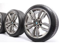 BMW Velgen met Zomerbanden 7 Serie G11 G12 20 Inch Styling 760 M Dubbelspaak