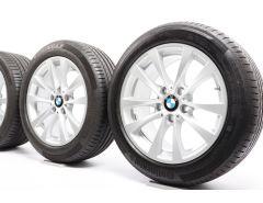 BMW Velgen met Zomerbanden 3 Serie F30 F31 4 Serie F32 F33 F36 17 Inch Styling 395 V-Speiche