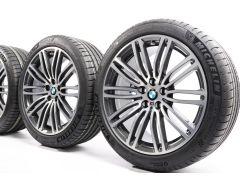BMW Sommerkompletträder 5er G30 G31 19 Zoll Styling 664 M Doppelspeiche