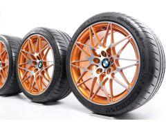 BMW Velgen met Zomerbanden M4 F82 F83 M3 F80 20 Inch Styling 666 M Sternspeiche