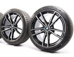 BMW Velgen met Zomerbanden 3 Serie G20 G21 4 Serie G22 G23 19 Inch Styling 791 M Dubbelspaak