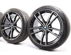 BMW Velgen met Zomerbanden 3 Serie G20 G21 4 Serie G22 19 Inch Styling 791 M Doppelspeiche