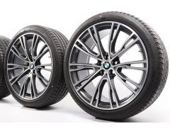 BMW Sommerkompletträder X3 G01 X4 G02 21 Zoll Styling 726i V-Speiche
