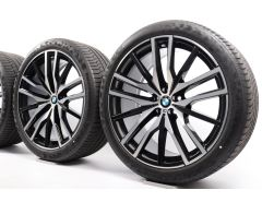 BMW Sommerkompletträder X5 G05 X6 G06 22 Zoll Styling 742 M Doppelspeiche