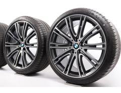 BMW Sommerkompletträder 5er G30 G31 20 Zoll Styling 759i V-Speiche