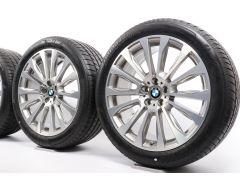 BMW Sommerkompletträder X3 G01 X4 G02 20 Zoll Styling 697 V-Speiche