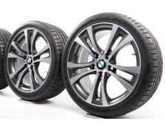 BMW Sommerkompletträder 1er F20 F21 2er F22 F23 18 Zoll Styling 384 Doppelspeiche