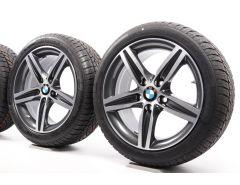 BMW Winterkompletträder 1er F20 F21 2er F22 F23 17 Zoll Styling 379 Sternspeiche