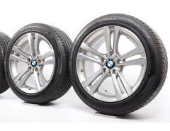 BMW Velgen met Zomerbanden 3 Serie F30 F31 4 Serie F32 F33 F36 18 Inch Styling 397 Doppelspeiche
