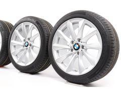BMW Velgen met Zomerbanden 3 Serie F30 F31 4 Serie F32 F33 F36 18 Inch Styling 415 Turbinenstyling