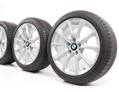 BMW Velgen met Zomerbanden 3 Serie F30 F31 4 Serie F32 F33 F36 18 Inch Styling 398 Y-spaak