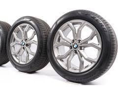 BMW Sommerkompletträder X3 G01 19 Zoll Styling 694 Y-Speiche