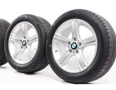 BMW Velgen met Zomerbanden 3 Serie F30 F31 4 Serie F32 F33 F36 17 Inch Styling 393 Sternspeiche
