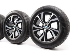 BMW Sommerkompletträder X3 G01 X4 G02 18 Zoll Styling 689 Turbinenstyling