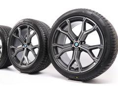 BMW Winterkompletträder X5 G05 X6 G06 21 Zoll Styling 741 M Y-Speiche