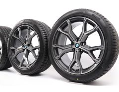 BMW Velgen met Winterbanden X5 G05 X6 G06 21 Inch Styling 741 M Y-Speiche