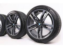 BMW Velgen met Zomerbanden 8 Serie G14 G15 G16 19 Inch Styling 727 M Doppelspeiche