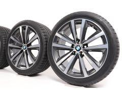 BMW Sommerkompletträder 8er G14 G15 G16 19 Zoll Styling 690 Doppelspeiche