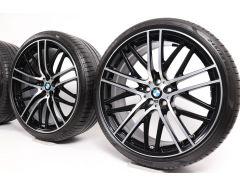 BMW Velgen met Zomerbanden 6 Serie G32 7 Serie G11 G12 21 Inch Styling 650 M Doppelspeiche