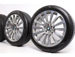 BMW Velgen met Zomerbanden X3 G01 X4 G02 20 Inch Styling 697 V-Speiche