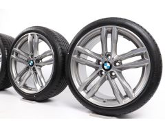 BMW Winterkompletträder 3er F30 F31 4er F32 F33 F36 19 Zoll Styling 704 M Doppelspeiche
