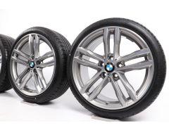 BMW Velgen met Zomerbanden 3 Serie F30 F31 4 Serie F32 F33 F36 19 Inch Styling 704 M Doppelspeiche