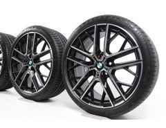 BMW Velgen met Zomerbanden 1 Serie F40 19 Inch Styling 555 M Dubbelspaak