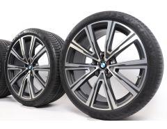 BMW Velgen met Zomerbanden X5 G05 X6 G06 22 Inch Styling 746i V-Speiche