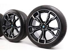 BMW Sommerkompletträder X3M F97 X4M F98 21 Zoll Styling 765 M V-Speiche