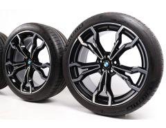 BMW Velgen met Zomerbanden X3M F97 X4M F98 21 Inch Styling 765 M V-spaak